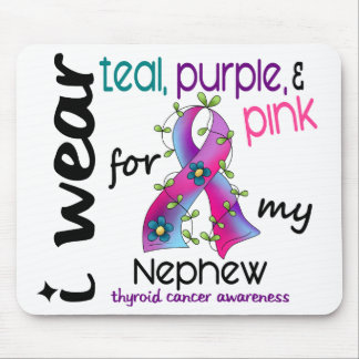 Thyroid Cancer I Wear Ribbon For My Nephew 43 Mouse Pad
