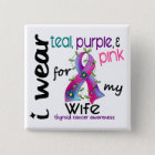 Thyroid Cancer I Wear Ribbon For My Wife 43 15 Cm Square Badge