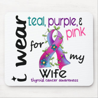 Thyroid Cancer I Wear Ribbon For My Wife 43 Mouse Mat
