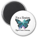 Thyroid Cancer I'm a Survivor 6 Cm Round Magnet