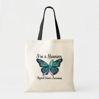 Thyroid Cancer I'm a Survivor Budget Tote Bag