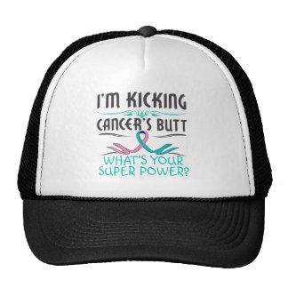 Thyroid Cancer Kicking Cancer Butt Super Power Cap