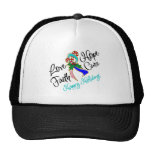 Thyroid Cancer Love Hope Holidays Mesh Hat