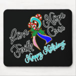 Thyroid Cancer Love Hope Holidays Mouse Pads