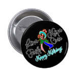 Thyroid Cancer Love Hope Holidays Pinback Button