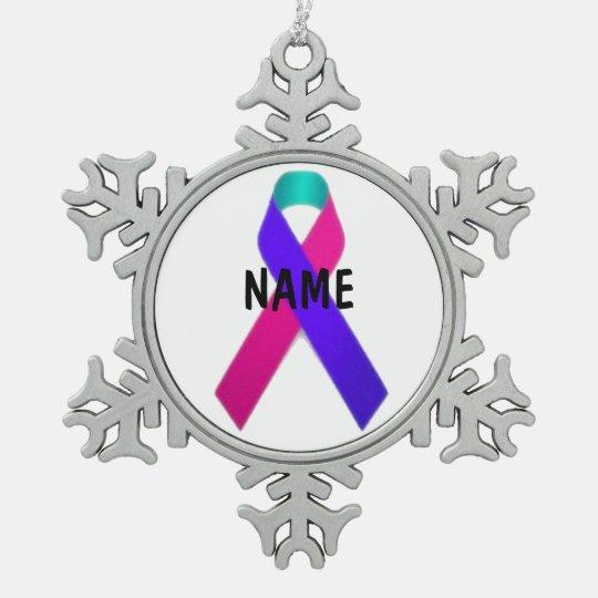 Thyroid Cancer Memorial Ornament