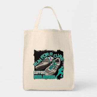 Thyroid Cancer - Men Run For A Cure Canvas Bag
