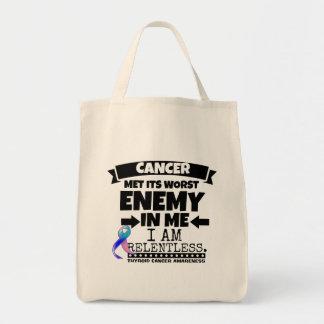 Thyroid Cancer Met Its Worst Enemy in Me Grocery Tote Bag