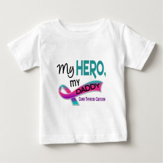 Thyroid Cancer MY HERO MY DADDY 42 Baby T-Shirt