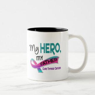 Thyroid Cancer MY HERO MY FATHER 42 Two-Tone Coffee Mug