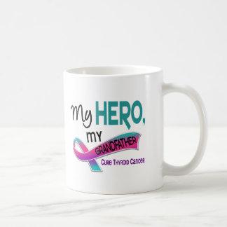 Thyroid Cancer MY HERO MY GRANDFATHER 42 Basic White Mug