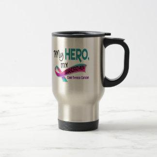 Thyroid Cancer MY HERO MY GRANDFATHER 42 Stainless Steel Travel Mug