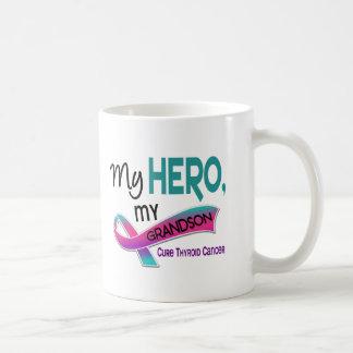 Thyroid Cancer MY HERO MY GRANDSON 42 Basic White Mug