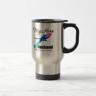 Thyroid Cancer My Hero My Husband Mug