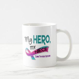 Thyroid Cancer MY HERO MY NIECE 42 Basic White Mug
