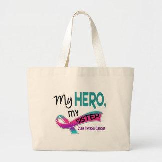 Thyroid Cancer MY HERO MY SISTER 42 Large Tote Bag