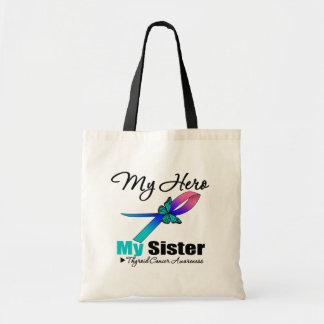 Thyroid Cancer My Hero My Sister Canvas Bags