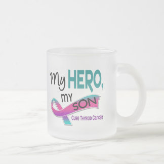 Thyroid Cancer MY HERO MY SON 42 Frosted Glass Mug