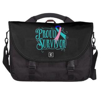 Thyroid Cancer Proud Survivor Laptop Commuter Bag