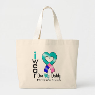 Thyroid Cancer Ribbon For My Daddy Tote Bags
