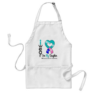 Thyroid Cancer Ribbon For My Daughter Standard Apron