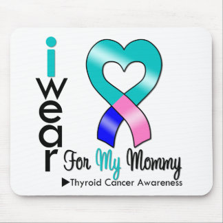 Thyroid Cancer Ribbon For My Mommy Mouse Mat