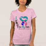 Thyroid Cancer Ribbon For My Sister Shirt