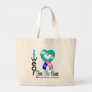 THYROID CANCER Ribbon For The Cure Tote Bags