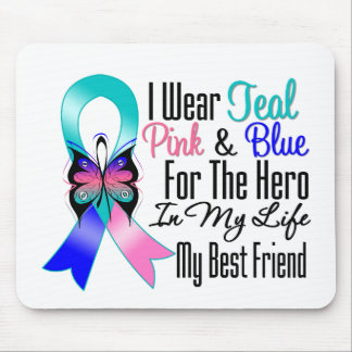 Thyroid Cancer Ribbon Hero My Best Friend Mouse Pad