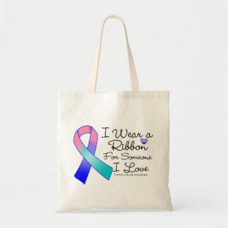 Thyroid Cancer Ribbon Someone I Love Bags