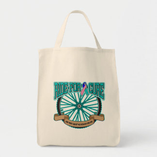 Thyroid Cancer Ride For Cure Canvas Bags
