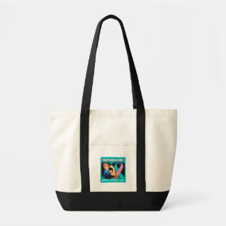 Thyroid Cancer Rosie Riveter - Fight Like a Girl Impulse Tote Bag