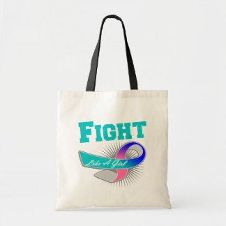 Thyroid Cancer Sporty Fight Like A Girl Tote Bag
