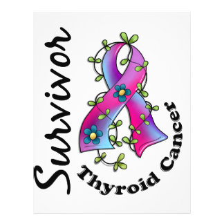 Thyroid Cancer Survivor 15 21.5 Cm X 28 Cm Flyer