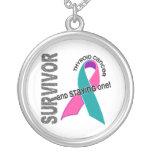 Thyroid Cancer Survivor 1 Round Pendant Necklace