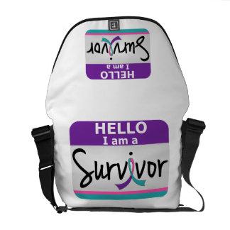 Thyroid Cancer Survivor 24 Courier Bag