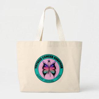 Thyroid Cancer Survivor Butterfly Jumbo Tote Bag