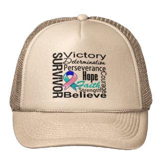 Thyroid Cancer Survivor Collage Hat