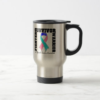 Thyroid Cancer Survivor Fighter Warrior Travel Mug
