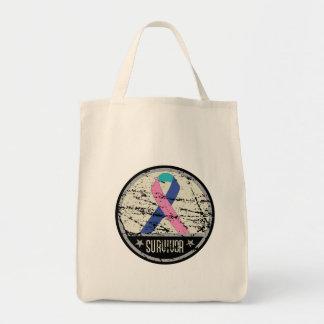 Thyroid Cancer Survivor Mens Vintage Tote Bag