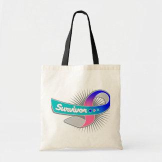 Thyroid Cancer Survivor Ribbon Bags