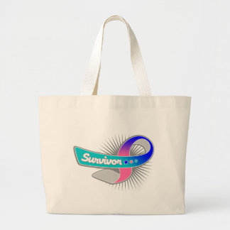 Thyroid Cancer Survivor Ribbon Jumbo Tote Bag