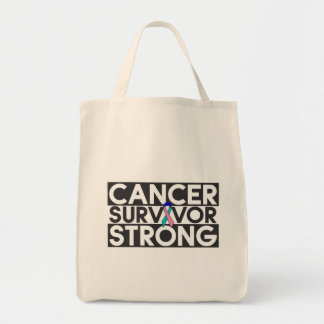 Thyroid Cancer Survivor Strong Tote Bags