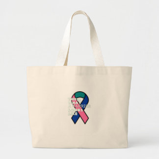 Thyroid Cancer Survivor Warrior Large Tote Bag