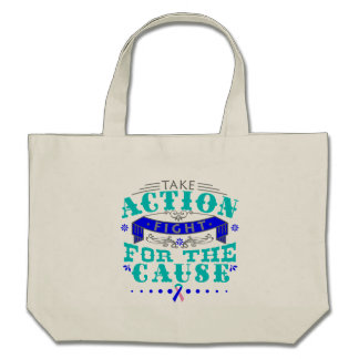 Thyroid Cancer Take Action Fight For The Cause Canvas Bag
