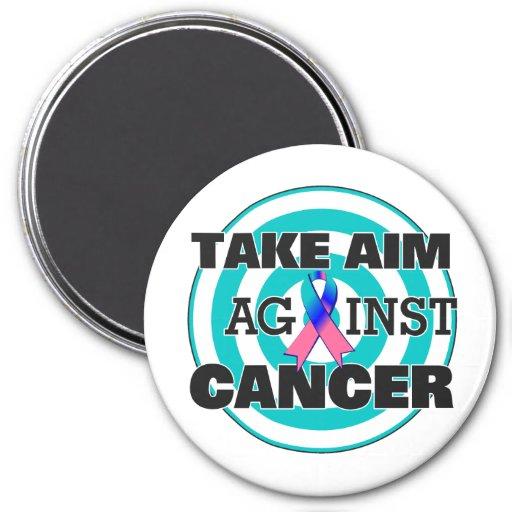 Thyroid Cancer Take Aim Against Cancer Refrigerator Magnet