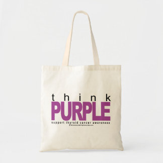 Thyroid Cancer Think Purple Budget Tote Bag