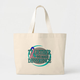 Thyroid Cancer Together We Make A Difference Jumbo Tote Bag