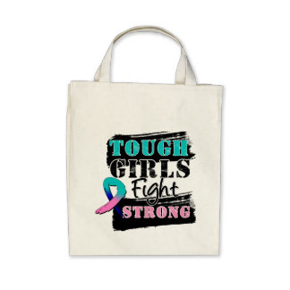 Thyroid Cancer Tough Girls Fight Strong Bag