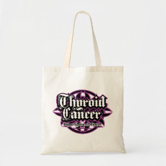 Thyroid Cancer Tribal Budget Tote Bag